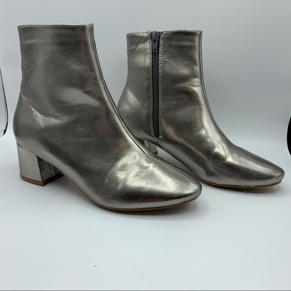 Etc! The Sydney Bootie Mod Chelsea Silver Boot
